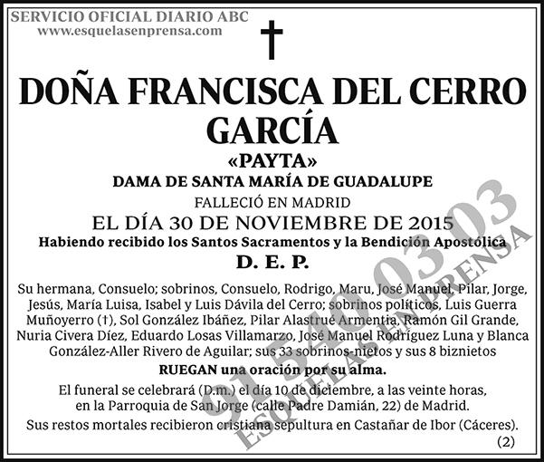 Francisca del Cerro García